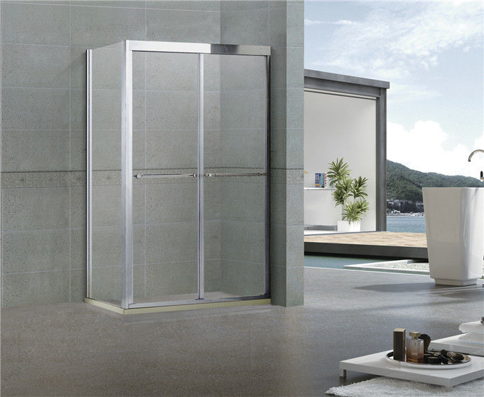 Rectangular Double Shower Enclosure / Offset Shower Enclosure With One Fixed Panel