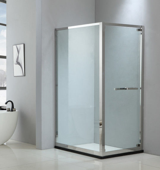 Foldable shower enclosure 900*900mm with 304 stainless steel & tempered clear glass